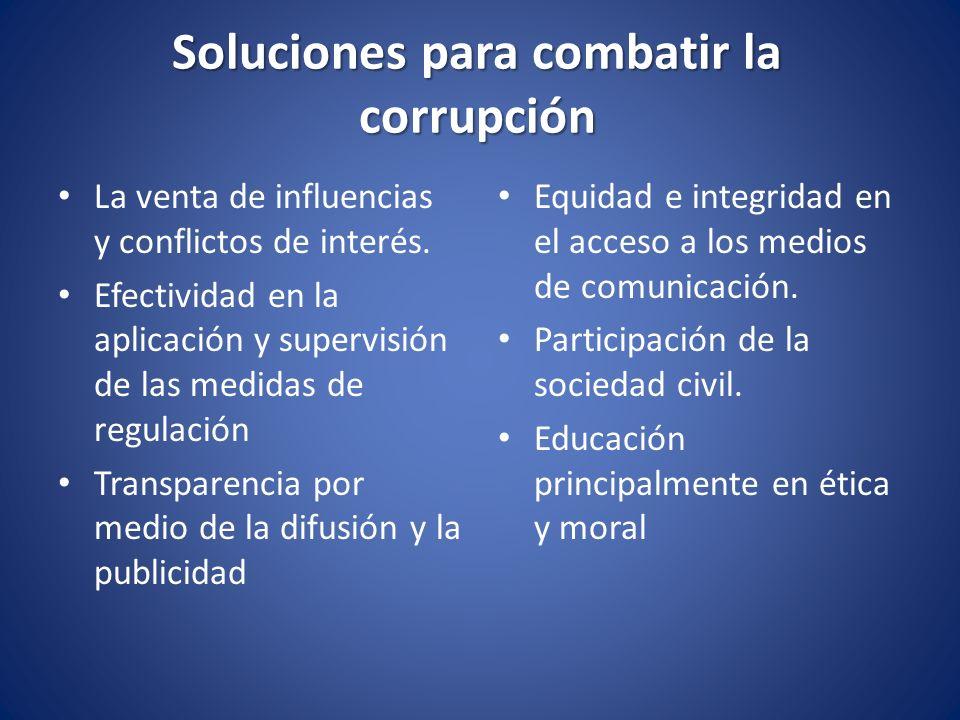 Soluciones para combatir la corrupción