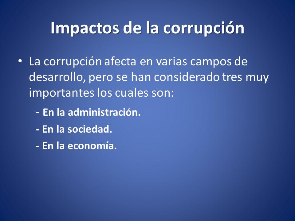 Impactos de la corrupción