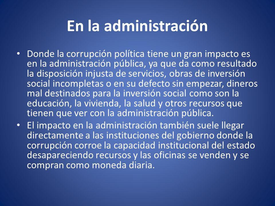 En la administración