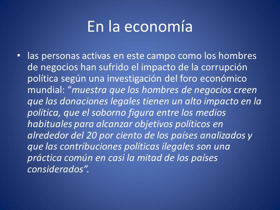 En la economía
