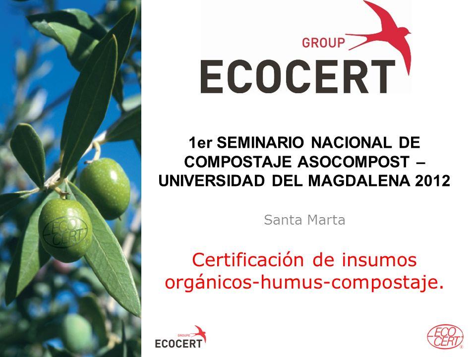 Certificación de insumos orgánicos-humus-compostaje.