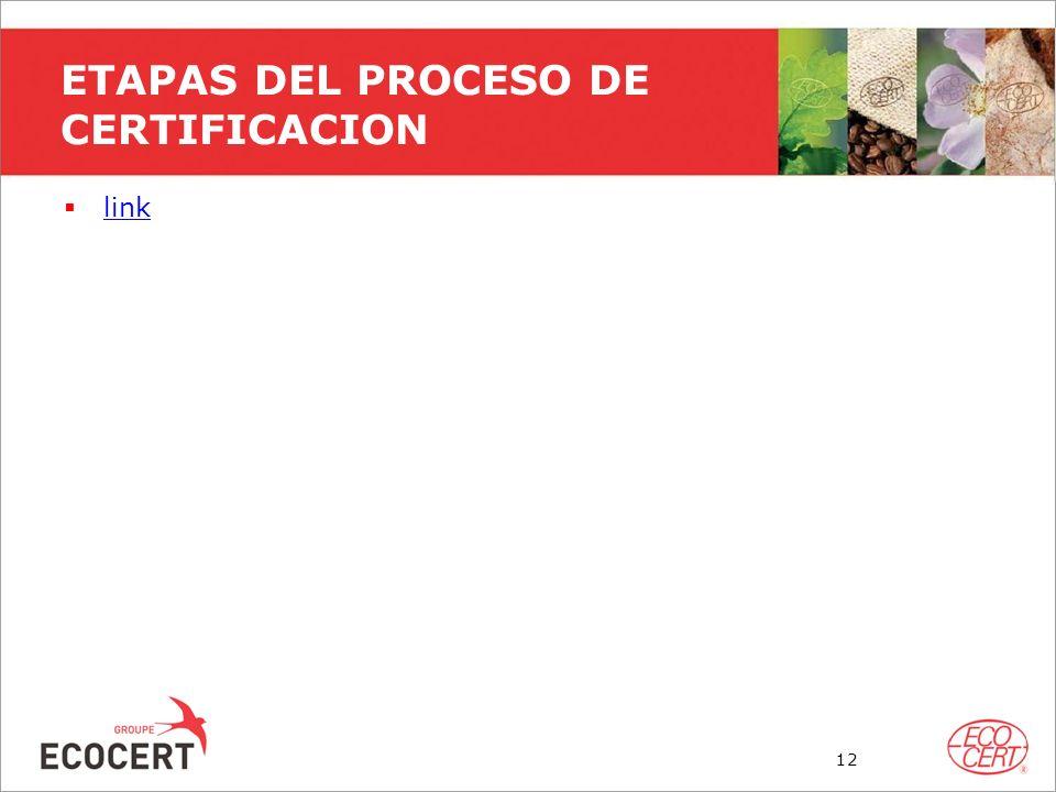 ETAPAS DEL PROCESO DE CERTIFICACION