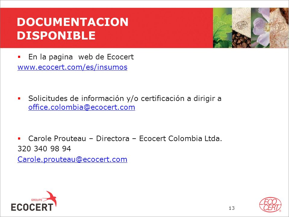 DOCUMENTACION DISPONIBLE