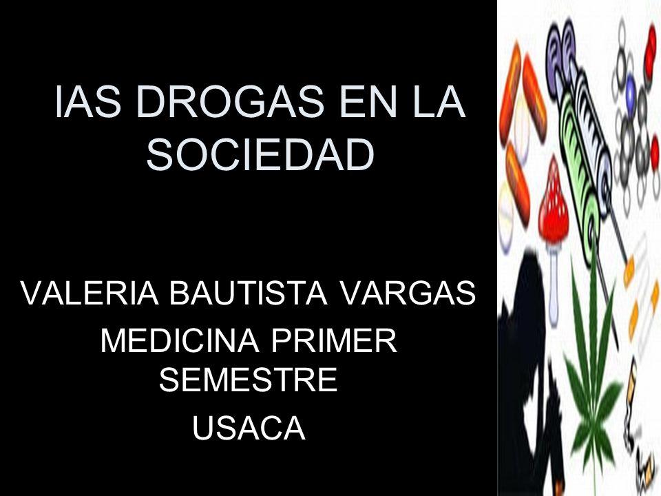lAS DROGAS EN LA SOCIEDAD