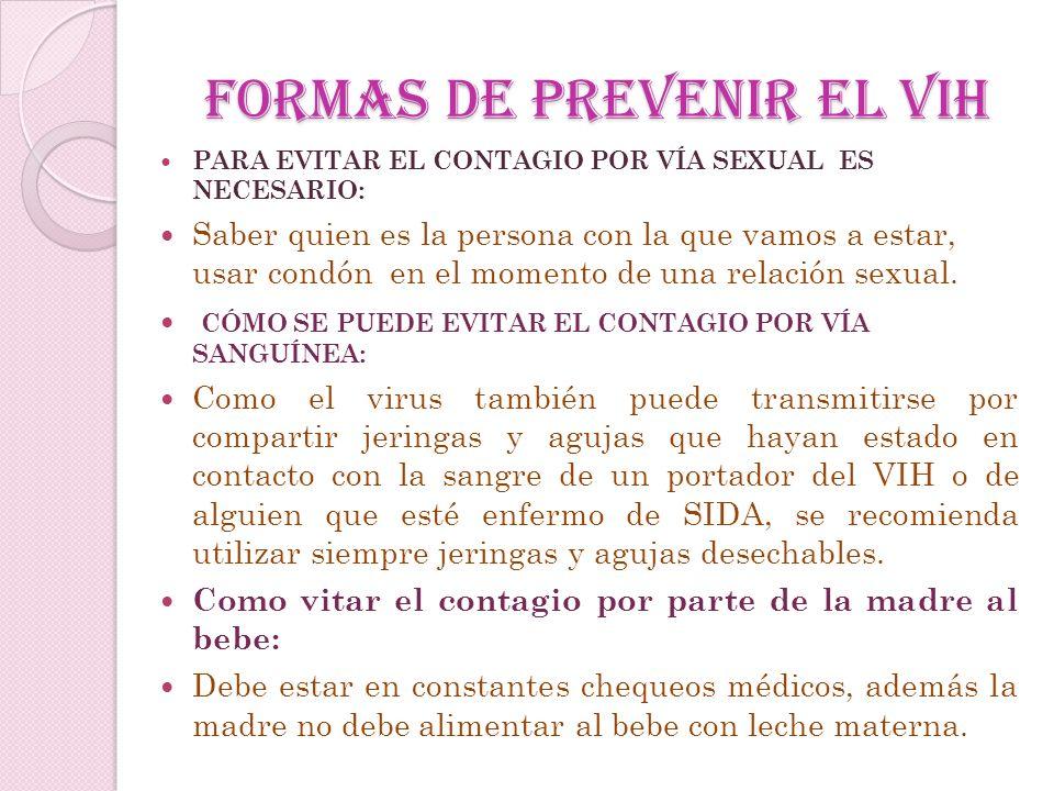 Formas de prevenir el VIH