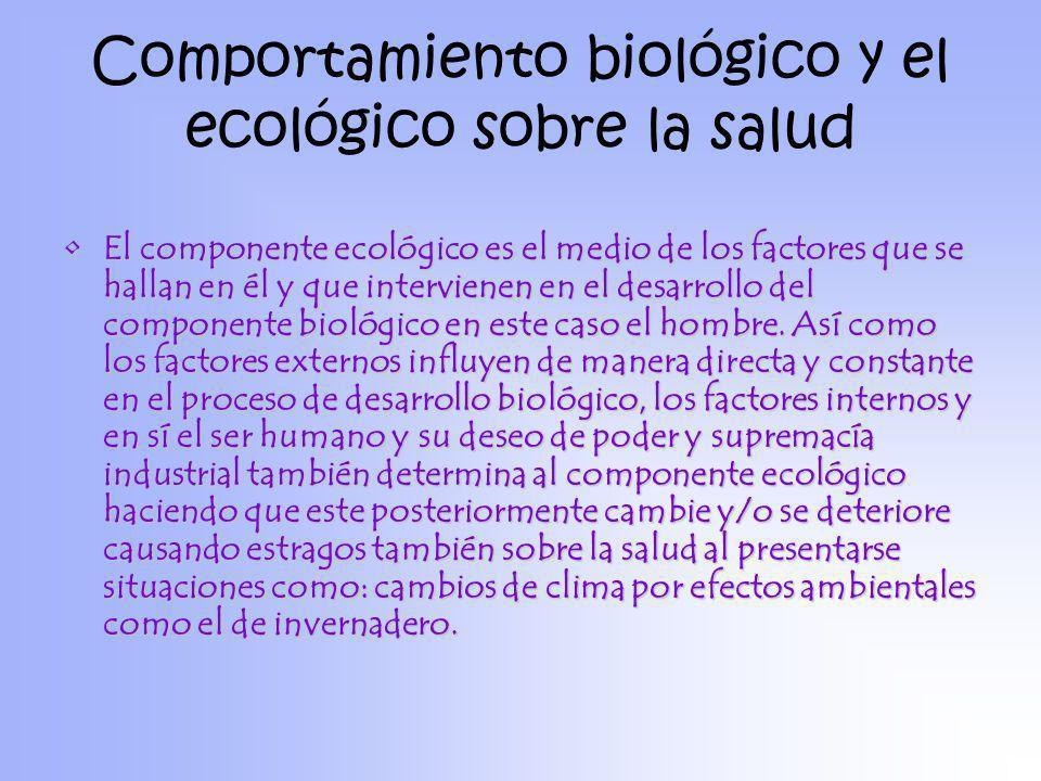 Comportamiento biológico y el ecológico sobre la salud