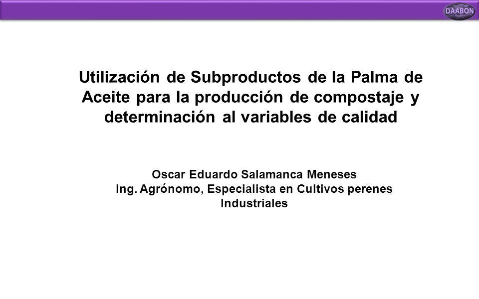 Utilización de Subproductos de la Palma de Aceite para la producción de compostaje y determinación al variables de calidad