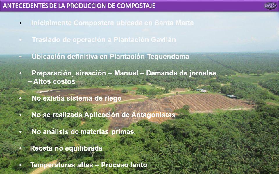 ANTECEDENTES DE LA PRODUCCION DE COMPOSTAJE