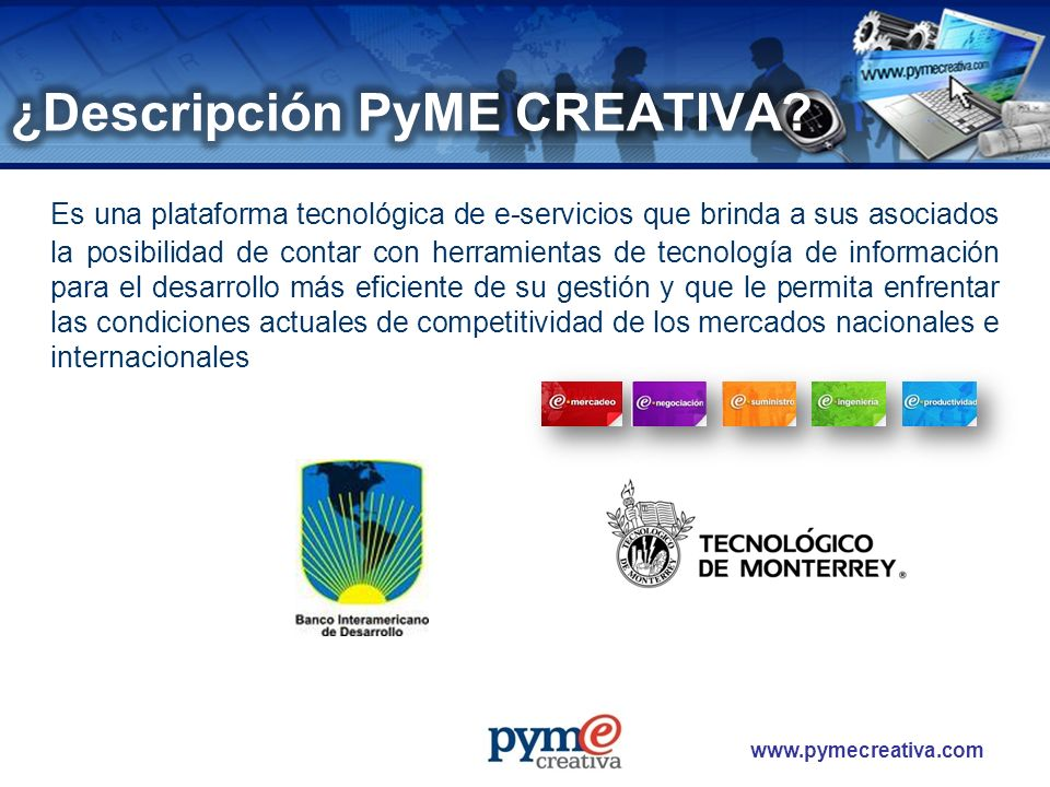 ¿Descripción PyME CREATIVA
