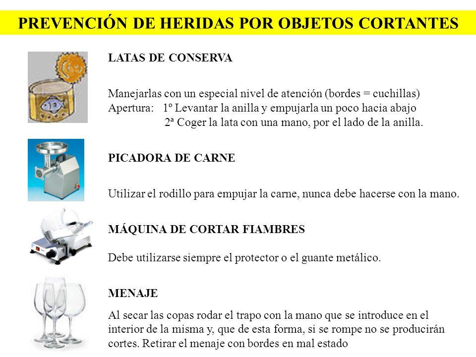 PREVENCIÓN DE HERIDAS POR OBJETOS CORTANTES