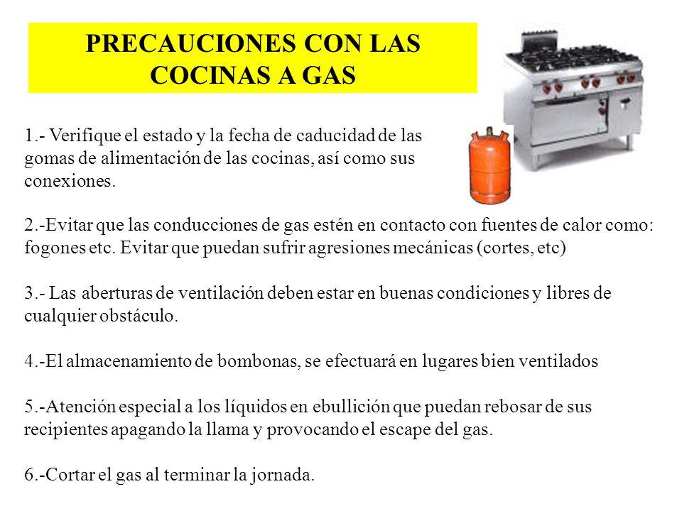 PRECAUCIONES CON LAS COCINAS A GAS