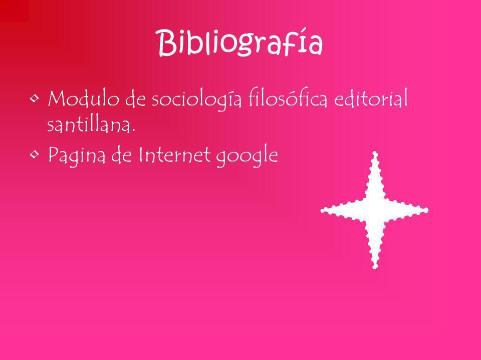 Bibliografía Modulo de sociología filosófica editorial santillana.