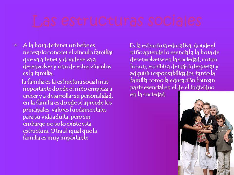 Las estructuras sociales