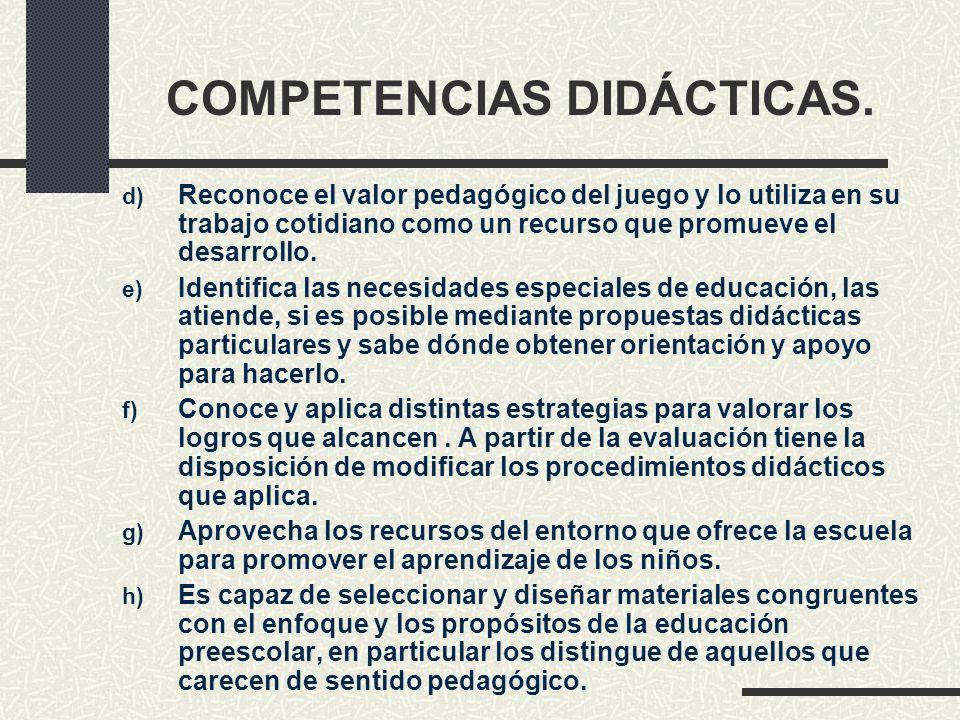 COMPETENCIAS DIDÁCTICAS.
