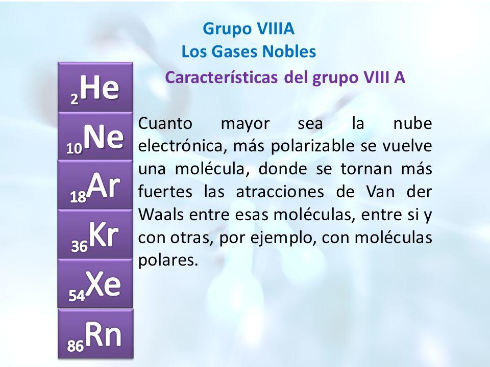 Grupo viiia los gases nobles ppt video online descargar caractersticas del grupo viii a urtaz Choice Image