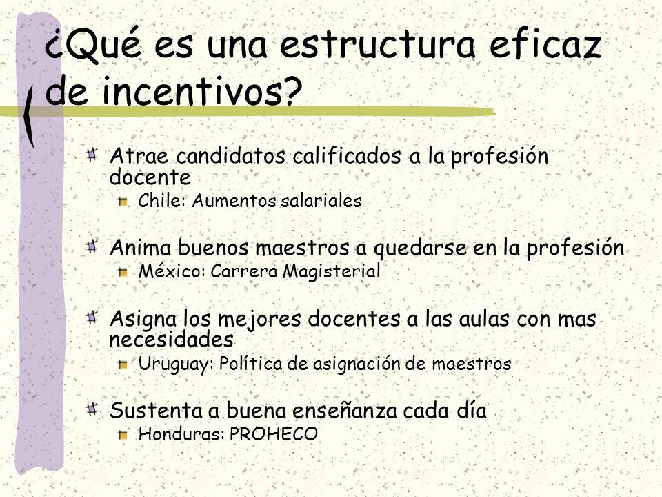 ¿Qué es una estructura eficaz de incentivos