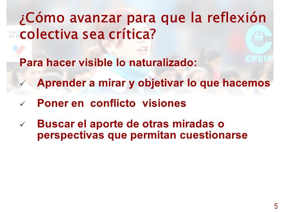 ¿Cómo avanzar para que la reflexión colectiva sea crítica