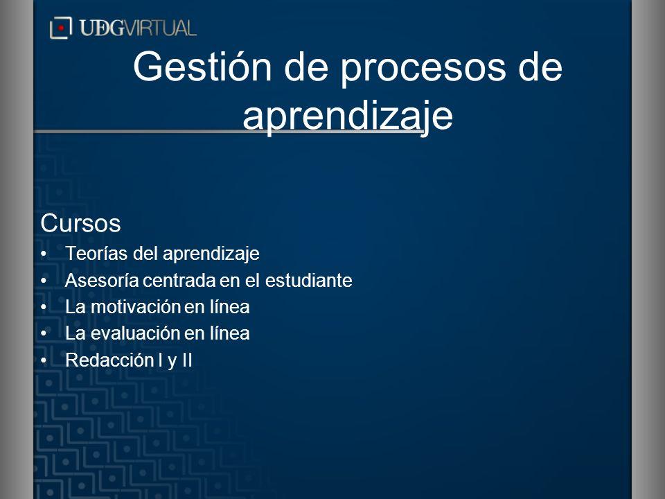Gestión de procesos de aprendizaje