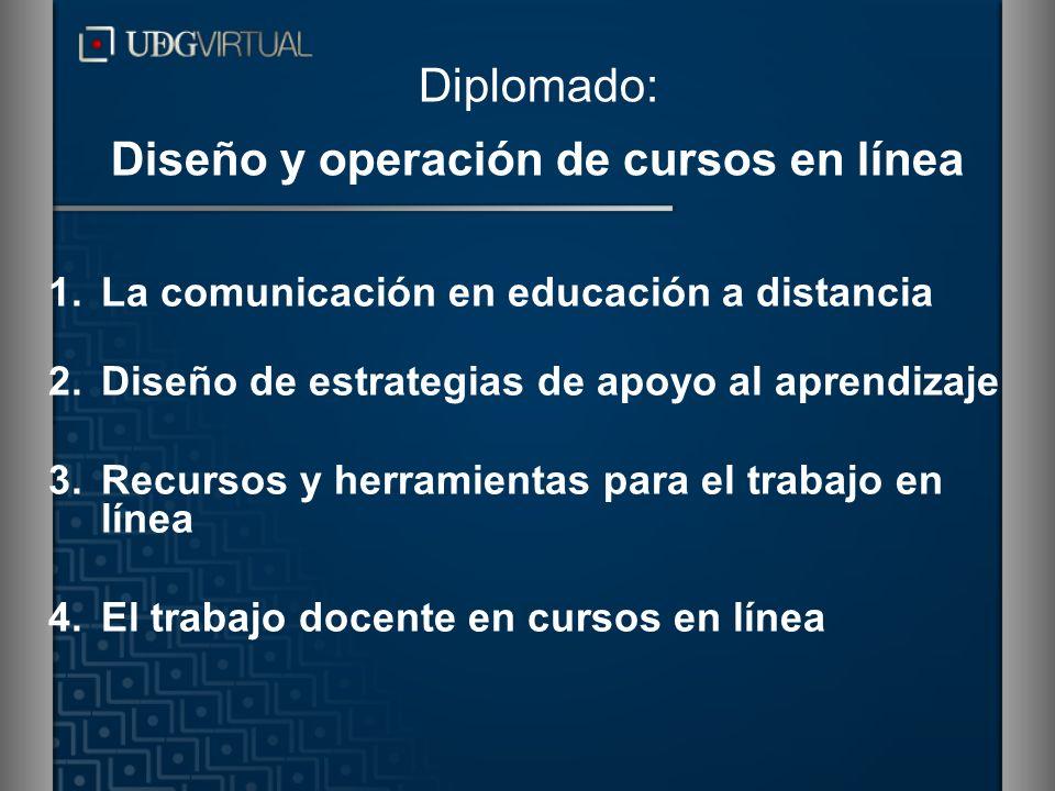 Diplomado: Diseño y operación de cursos en línea