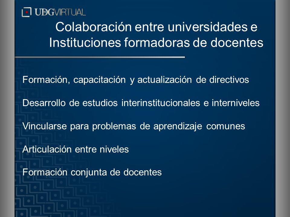 Colaboración entre universidades e