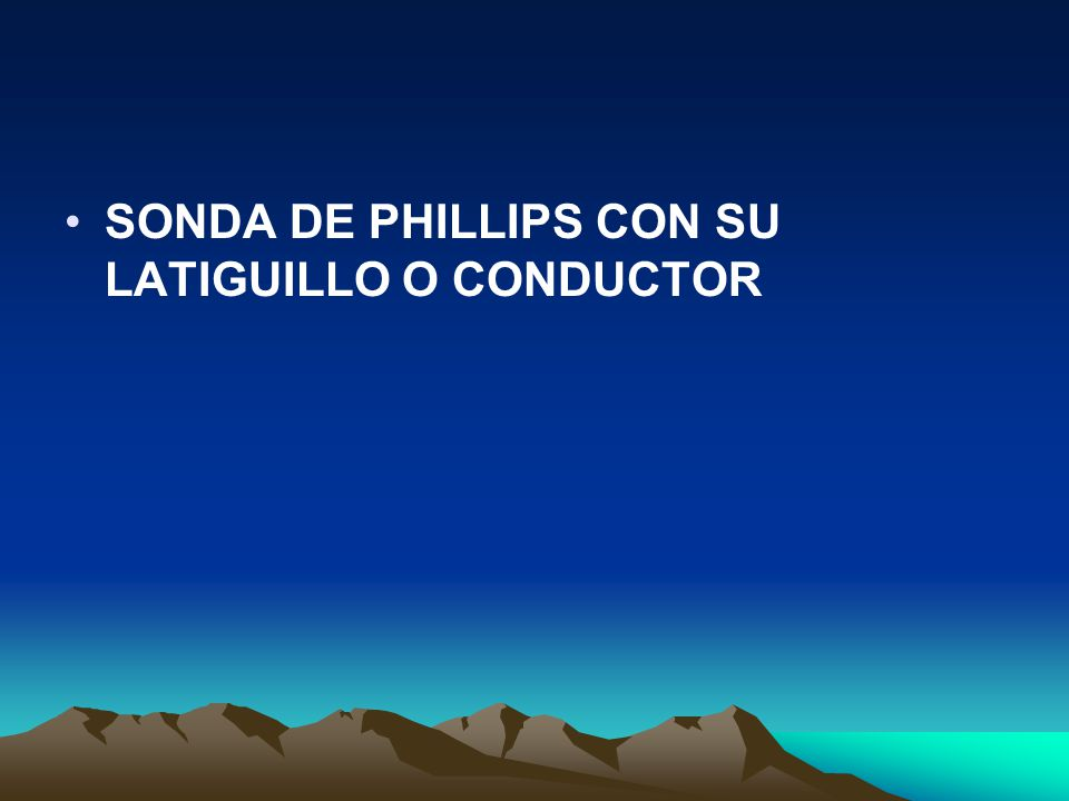 SONDA DE PHILLIPS CON SU LATIGUILLO O CONDUCTOR