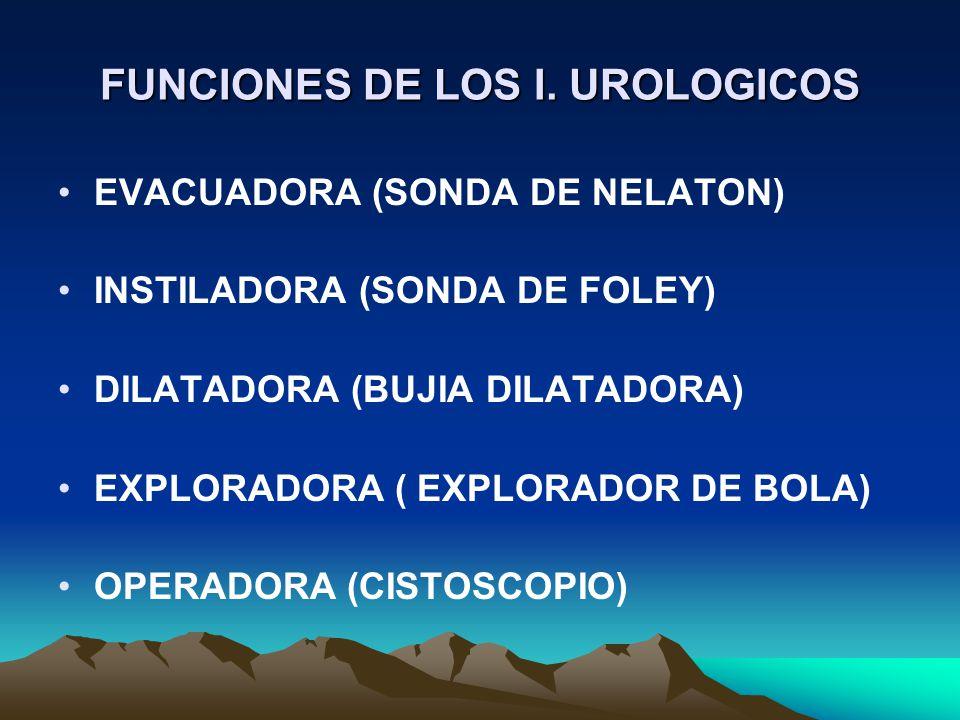 FUNCIONES DE LOS I. UROLOGICOS