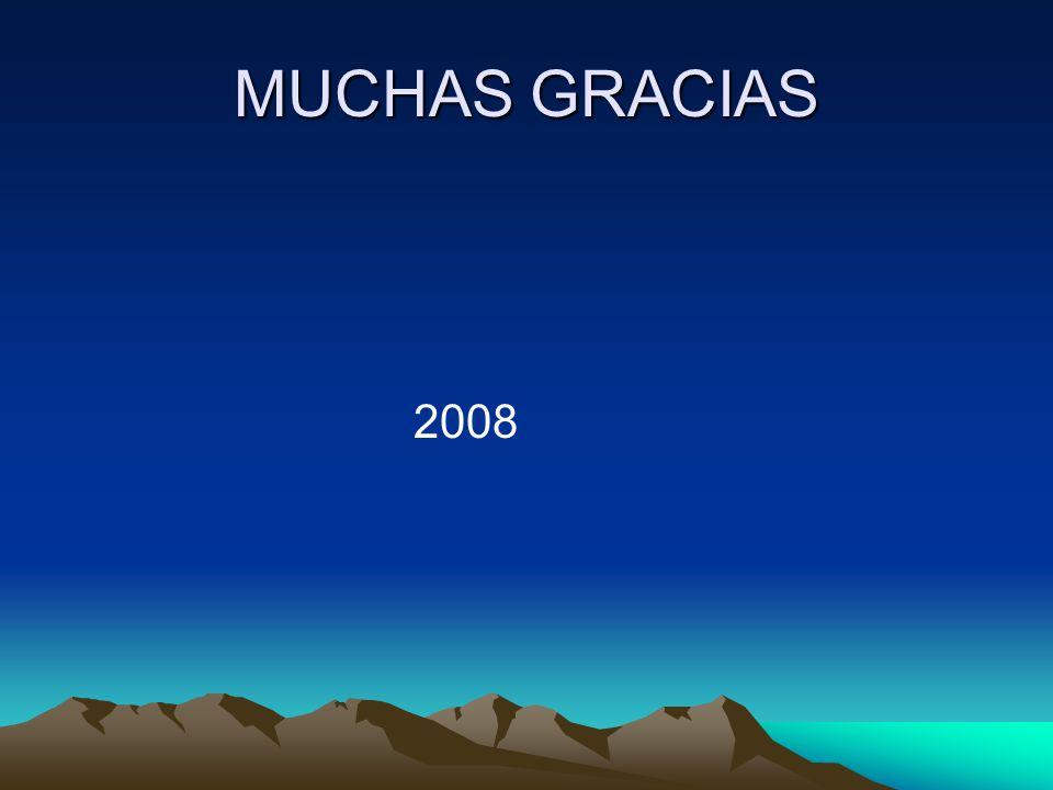 MUCHAS GRACIAS 2008