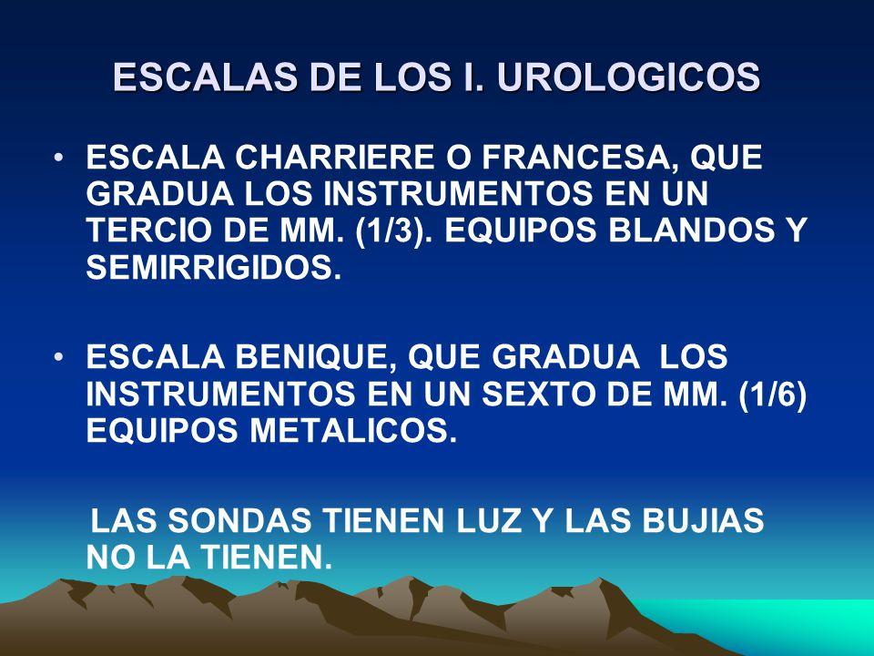 ESCALAS DE LOS I. UROLOGICOS
