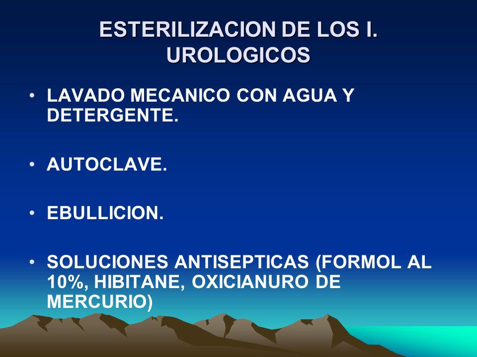 ESTERILIZACION DE LOS I. UROLOGICOS