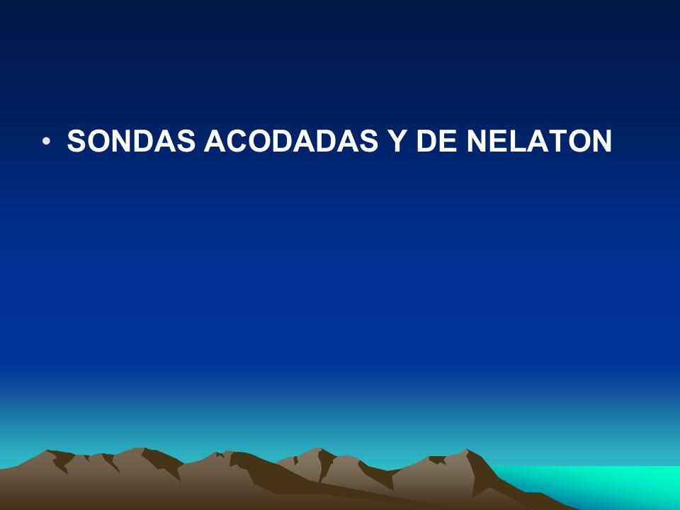 SONDAS ACODADAS Y DE NELATON