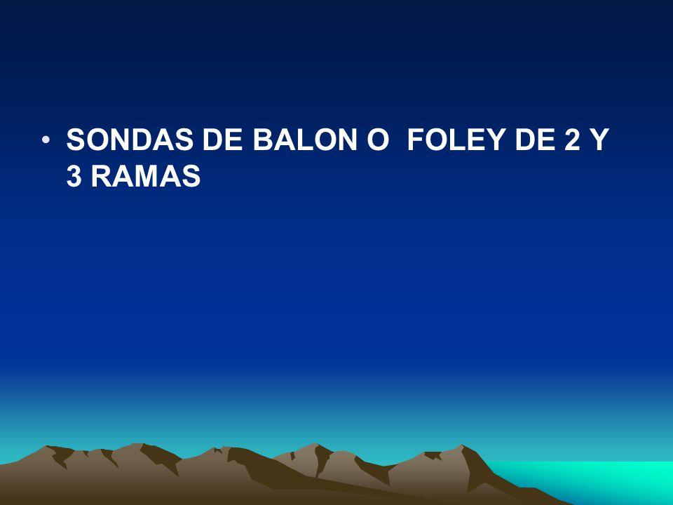 SONDAS DE BALON O FOLEY DE 2 Y 3 RAMAS