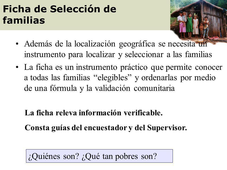 Ficha de Selección de familias