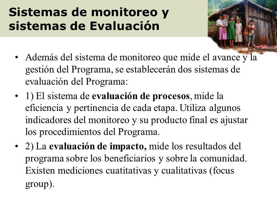 Sistemas de monitoreo y sistemas de Evaluación