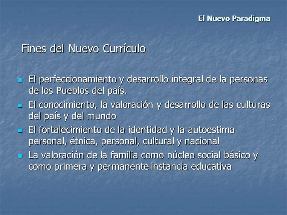 Fines del Nuevo Currículo