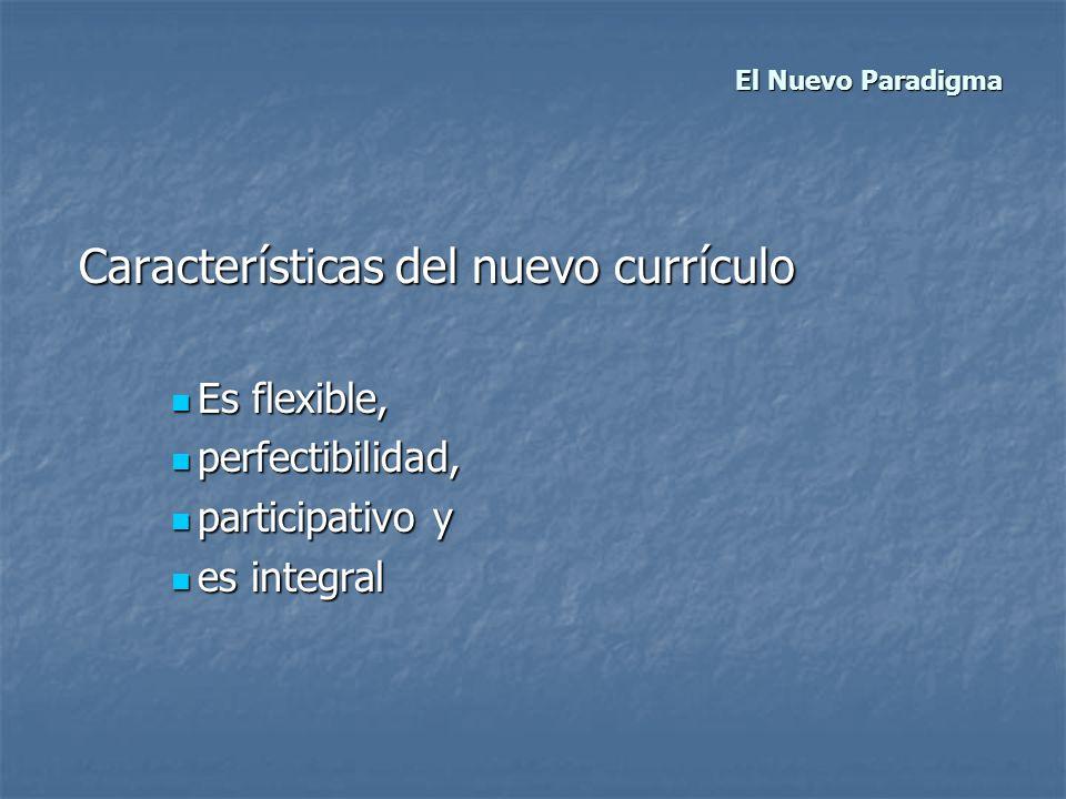 Características del nuevo currículo