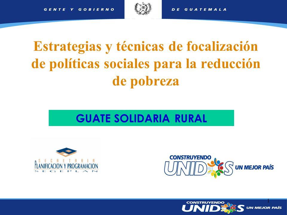 Estrategias y técnicas de focalización de políticas sociales para la reducción de pobreza