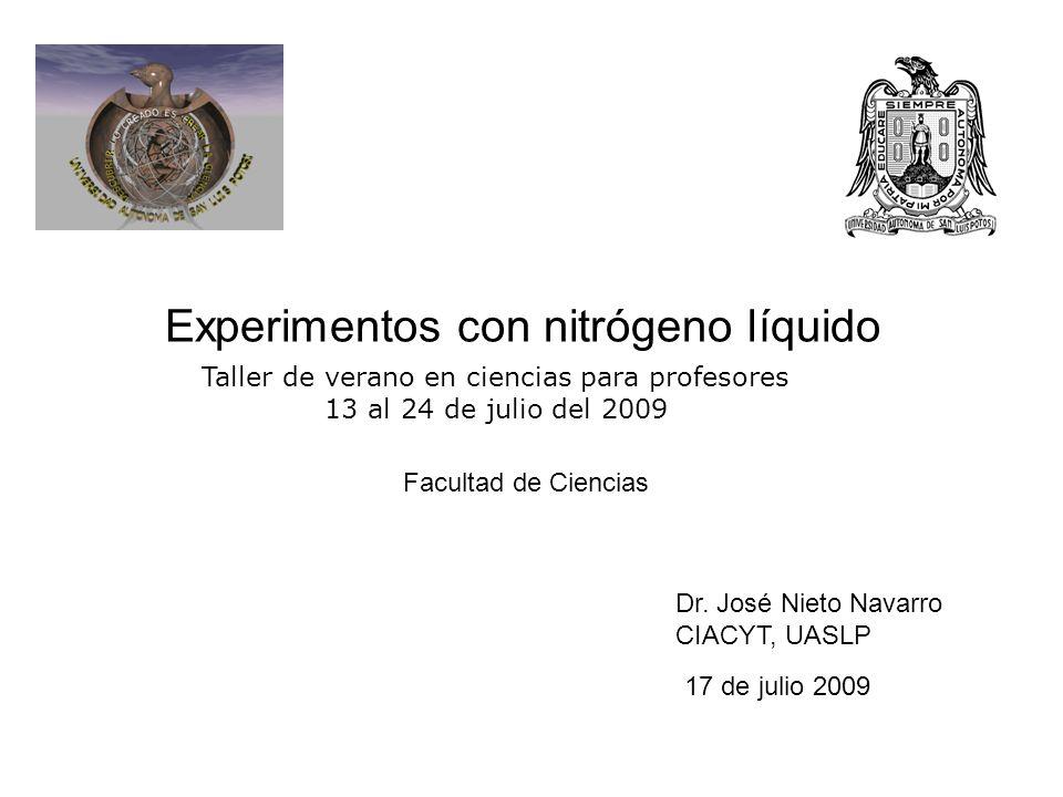 Experimentos con nitr geno l quido ppt descargar for Nitrogeno liquido para cocinar