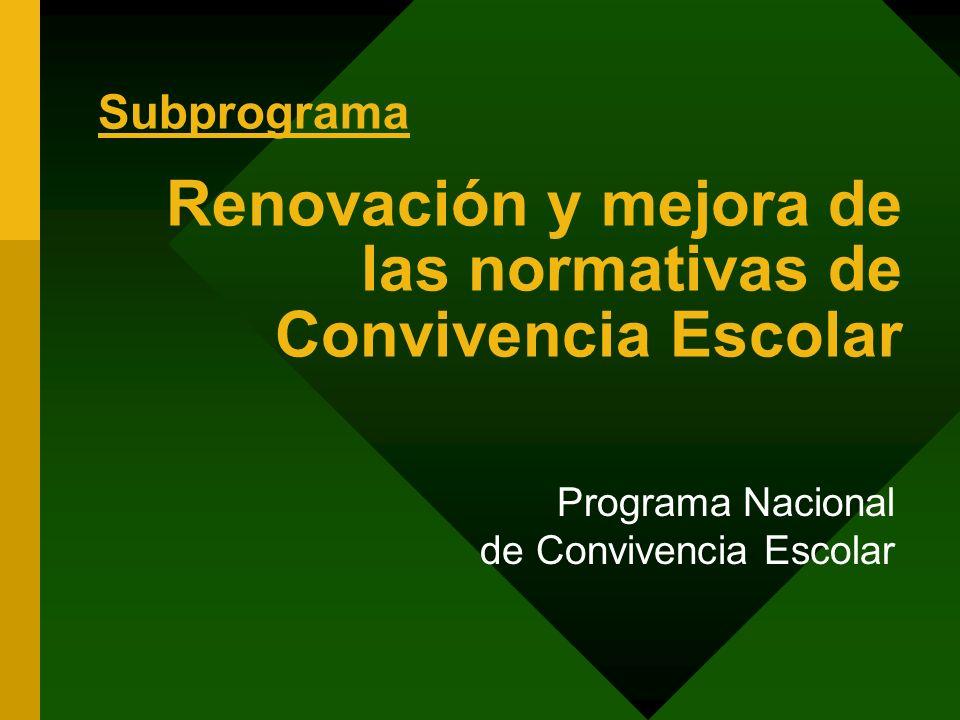 Renovación y mejora de las normativas de Convivencia Escolar