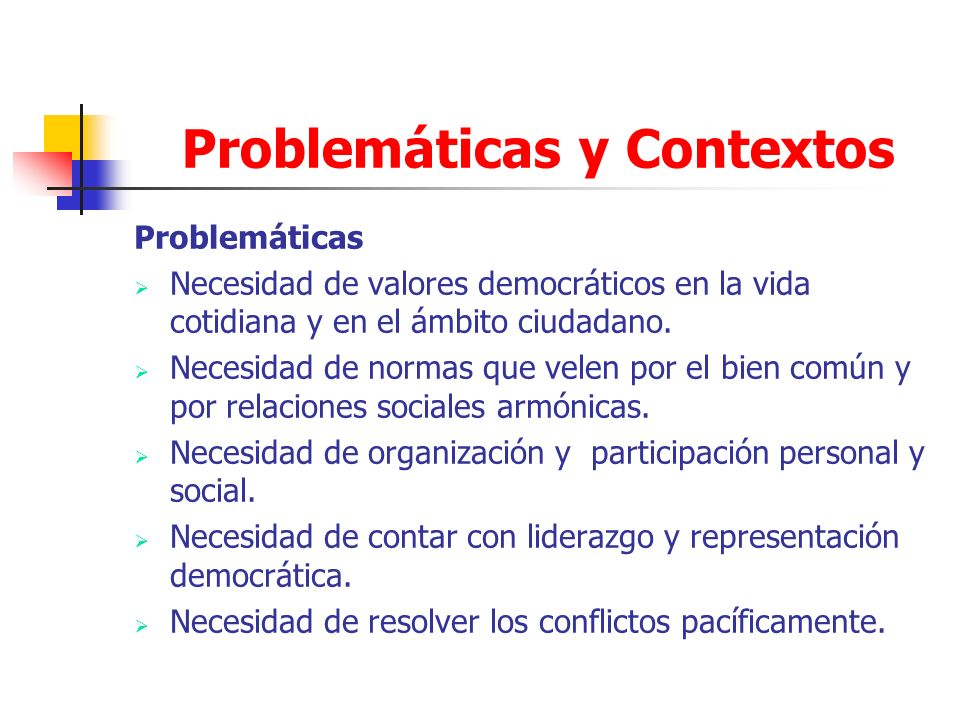 Problemáticas y Contextos