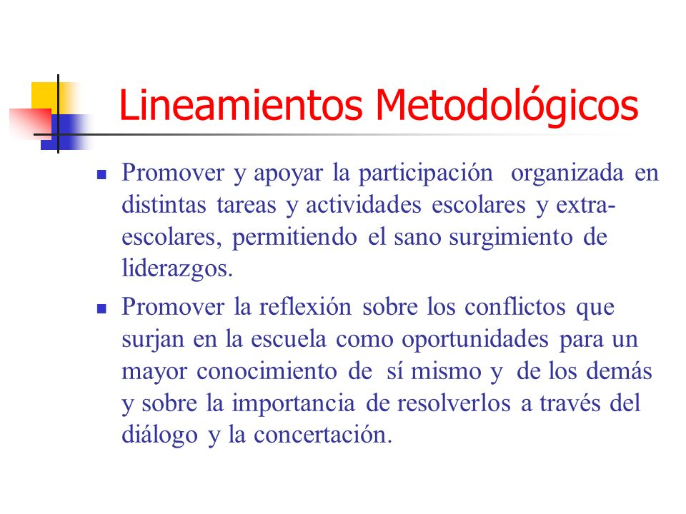 Lineamientos Metodológicos