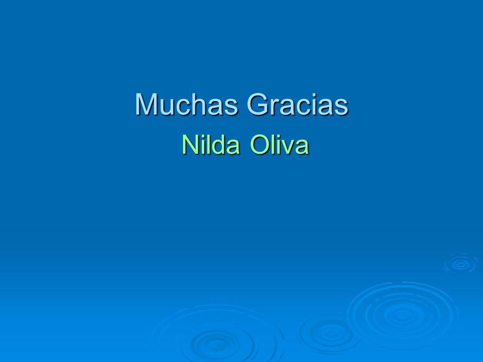 Muchas Gracias Nilda Oliva