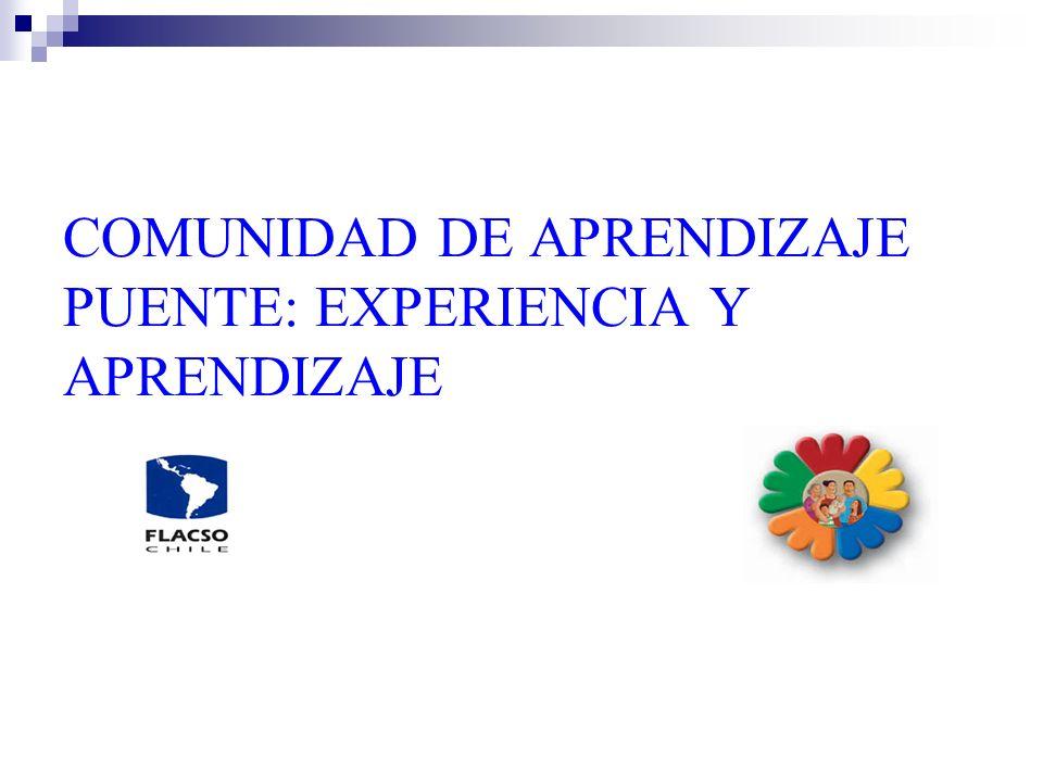 COMUNIDAD DE APRENDIZAJE PUENTE: EXPERIENCIA Y APRENDIZAJE