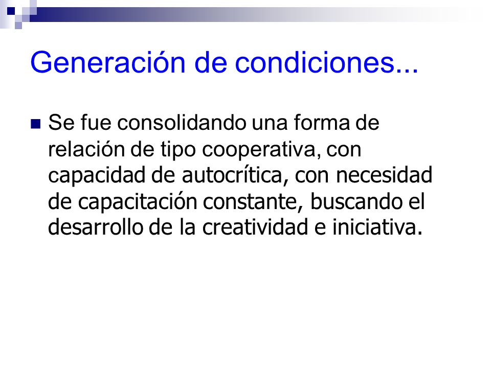 Generación de condiciones...