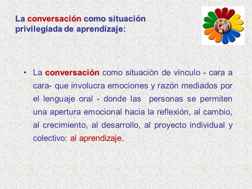 La conversación como situación privilegiada de aprendizaje: