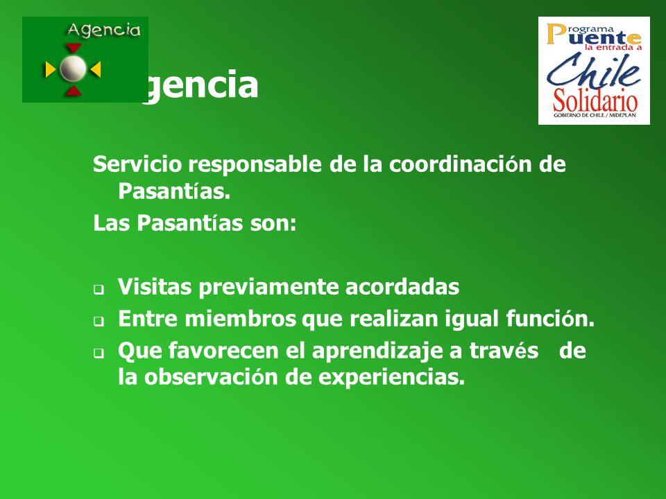 Agencia Servicio responsable de la coordinación de Pasantías.