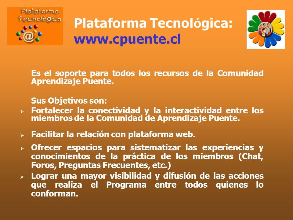 Plataforma Tecnológica: www.cpuente.cl