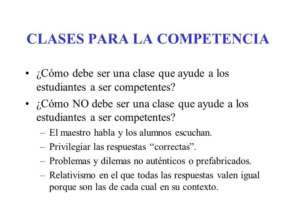 CLASES PARA LA COMPETENCIA