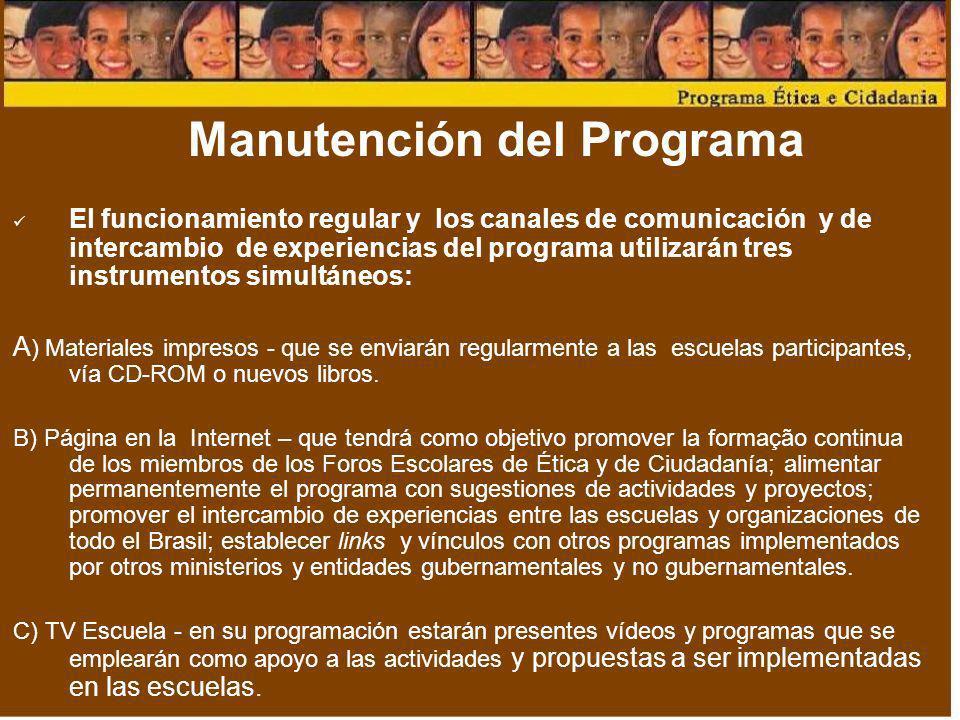 Manutención del Programa