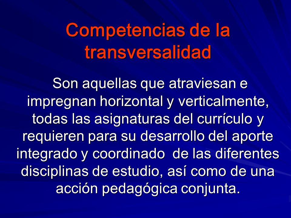 Competencias de la transversalidad