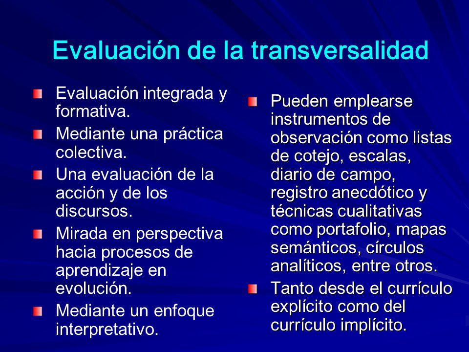 Evaluación de la transversalidad